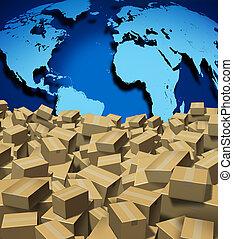 全球, 發貨