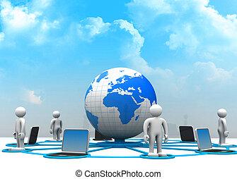 全球, 電腦網路