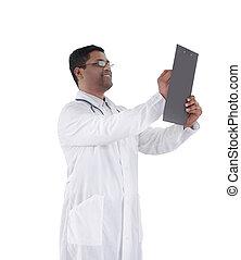 全科醫師, 寫, a, prescription.isolated, 在懷特上