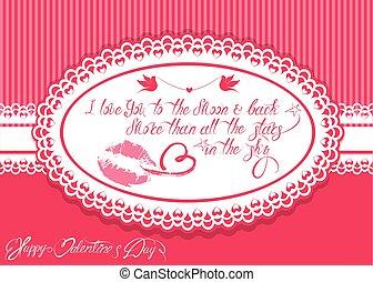 全部, 愛, 正文, 框架, 橢圓形, 月亮, 粉紅色, 愉快,  calligraphic, 背景, 天, 星, 你, 假期, 更多, 水平, 比, 卡片, 天空, 華倫泰, 背, 手寫
