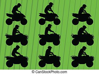 全部, 輕便馬車, 地形, 沙丘, 摩托車, 車輛, 空鉛, 騎手