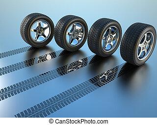 全部, 驅動, 輪子