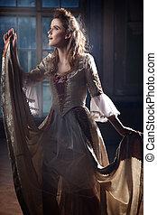 公主, 在, 她, 城堡