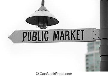 公众市场, 签署