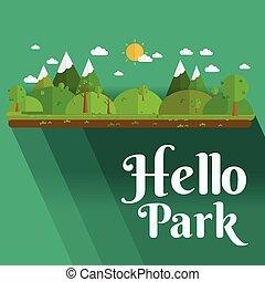 公共の公園, 都市で