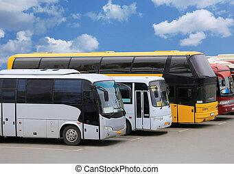 公共汽車, 上, 停車處