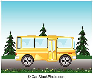 公共汽車, 上, 路