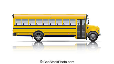 公共汽車, 學校, 黃色