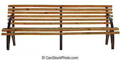 公園のベンチ, .