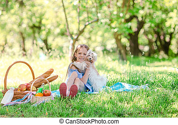 公園, わずかしか, 子供, ピクニック, 2