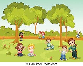 公園, 人々