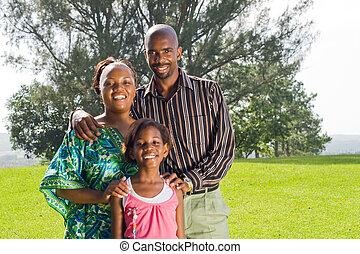 公園, 家族, アフリカ