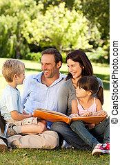 公園, ∥(彼・それ)ら∥, アルバム, 見る, 写真, 家族