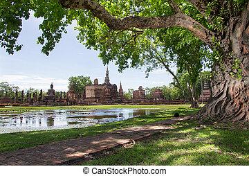 公園, 歴史的, スコータイ, タイ