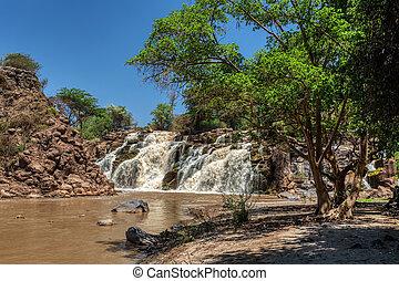 公園, 滝, awash, エチオピア, 国民
