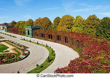 公園, 秋, 絵のよう