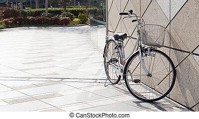 公園, 緑, 自転車, 交通機関, 壁