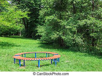 公園, 2, ベンチ