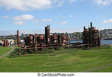公園, gasworks, ワシントン, シアトル