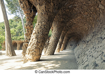 公園, guell, バルセロナ