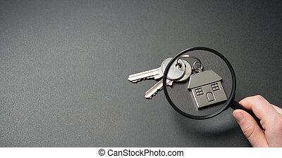 公寓, search., 房产, 概念