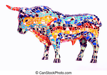 公牛, 在, gaudi, 風格, -, 西班牙語, 紀念品