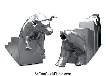 公牛, 金属, 鱼眼睛, 忍耐, 汇聚