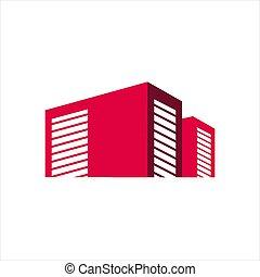 公衆, ガレージ, デザイン, 箱, 自己, 貯蔵, イラスト, ベクトル, ロゴ