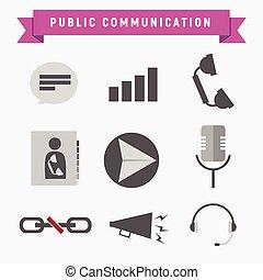 公衆, コミュニケーションアイコン, セット