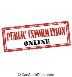 公開的信息, 在網上