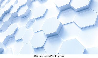 六角形, パターン, 技術, 背景
