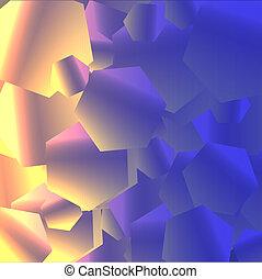 六角形, 光沢がある