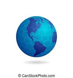 六角形, 地球, 格子
