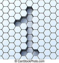 六角形, 柵格, 第一數字, 1, 3d