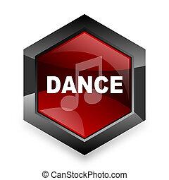 六角形, 背景, 現代, 音楽, アイコン, デザイン, 赤, ダンス, 3d, 白