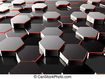 六角形, 見通し, 背景