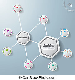 六角形, infographic, 8, オプション, 2