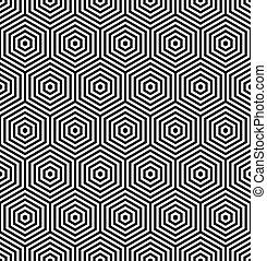 六角形, texture., seamless