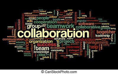 共同, 概念, 単語, 雲, タグ