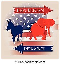 共和党員, 民主党員