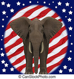 共和党員, elephant.
