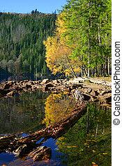 共和国, 黒, 湖, -, チェコ