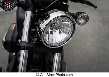 关闭, 在中, 葡萄收获期, 摩托车