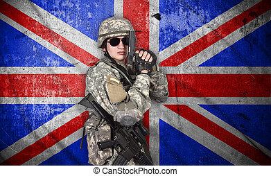 兵士, ∥で∥, ライフル銃, そして, 銃