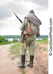 兵士, ∥で∥, 銃, 中に, ショー, から, 最初に, 世界, 戦争