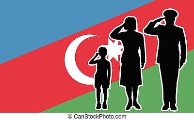 兵士, アゼルバイジャン, 家族, 挨拶