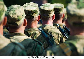 兵士, パレード