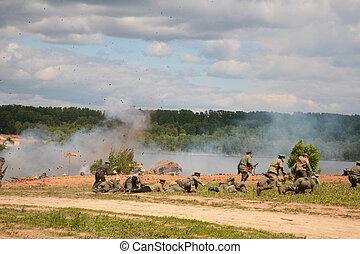 兵士, 中に, 攻撃, 中に, 軍, ショー, から, 最初に, 世界, 戦争
