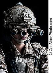 兵士, 人, 把握, 攻撃的である, ファッション