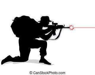兵士, 射撃